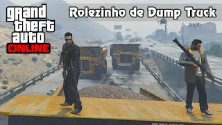 GTA V Online: Rolezinho de Dump Truck Versus Trem