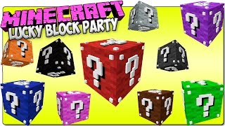 MINECRAFT 1.8 LUCKY BLOCK PARTY MOD - ADDON | ¡El Lucky Block que cambia de color!