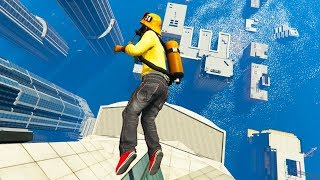 GTA 5 Water Ragdolls - The City is Flooded (GTA 5 Tsunami)