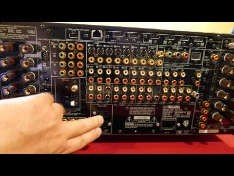 yamaha rx-z11 unboxing part 2 look around the receiver