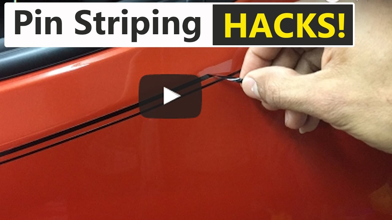 Pin stripe hacks! How to make life easier when removing pin striping or  vinyl decals