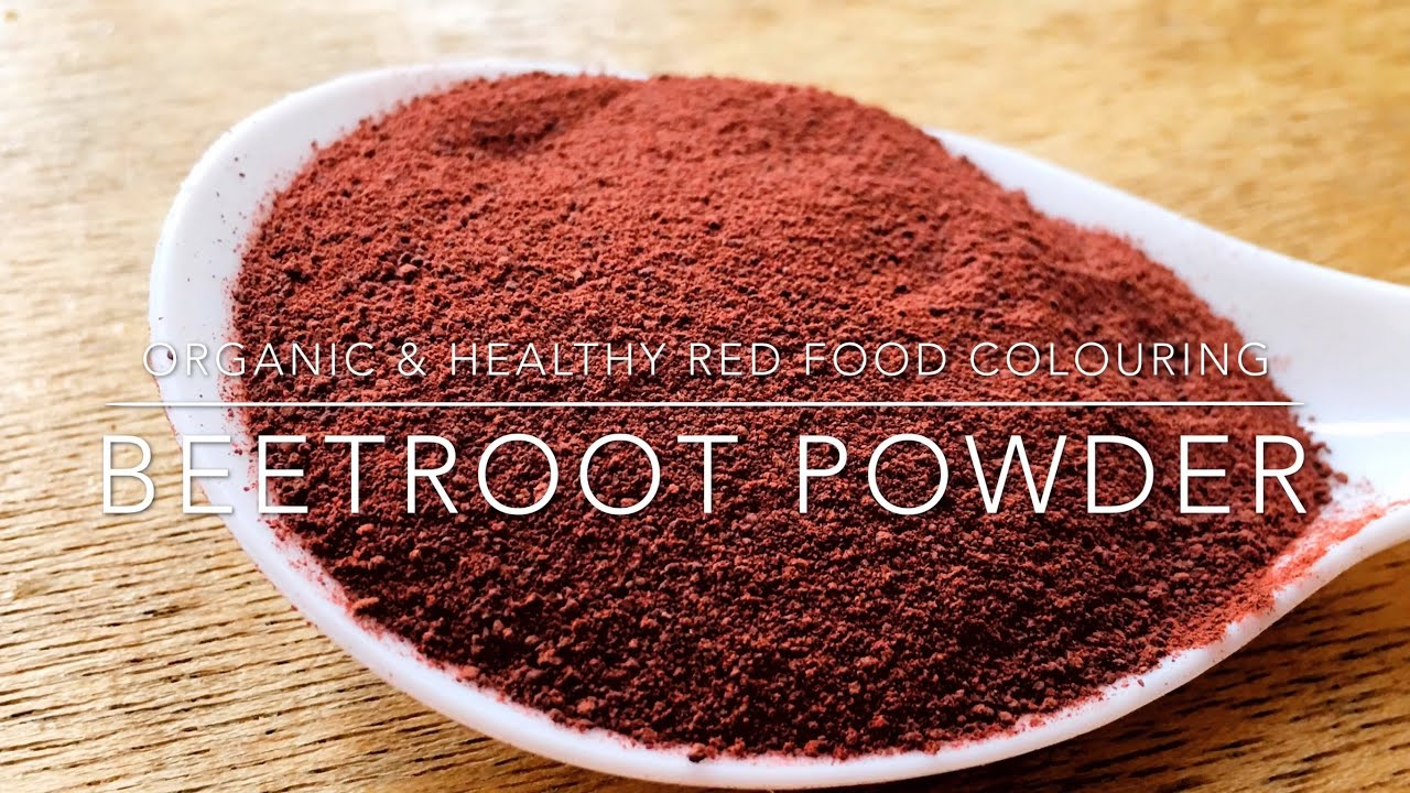 Homemade Organic and Healthy Red Food Colouring Powder | Beetroot Powder