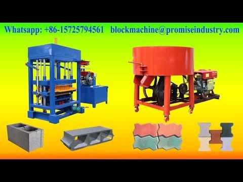 QT4-30 diesel engine hydraulic concrete road paver block making machine in ghana