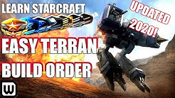 Learn Starcraft! Easy Beginner Terran Build Order Guide & Training! (Updated 2020)