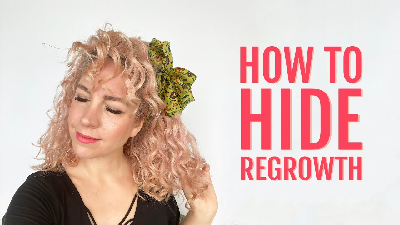 How to hide regrowth in curly hair