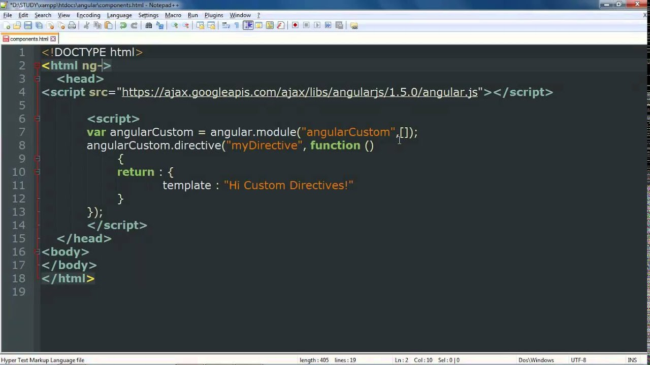 Angularjs Tutorial Chapter 7 Part2 Custom Directive Example