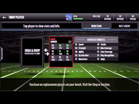 MADDEN MOBILE 16 - Ronde Barber Legend Set Completion