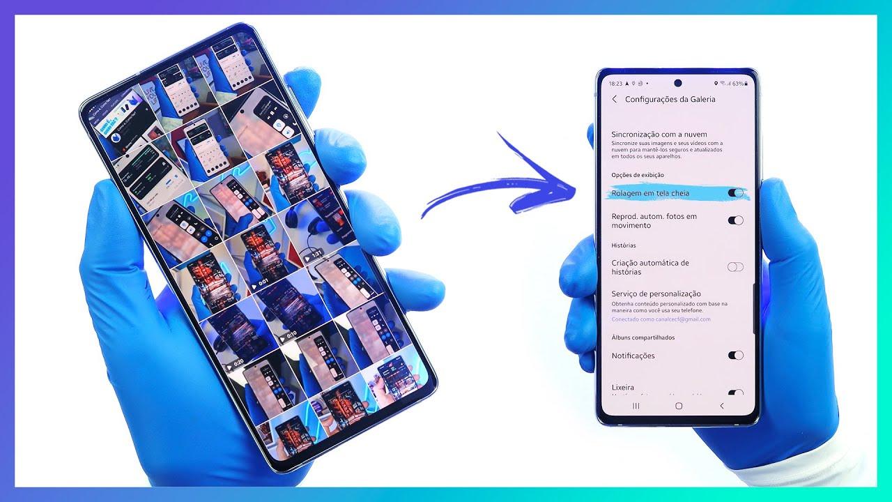 🔵 Como habilitar a nova função da galeria Samsung   Rolagem em Tela Cheia