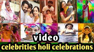 Celebrities Holi Celebrations | Stars Holi Celebrations|