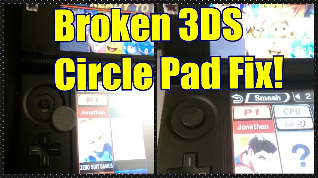 Broken 3DS Circle Pad? Temp Fix it with a PSP! - YouTube