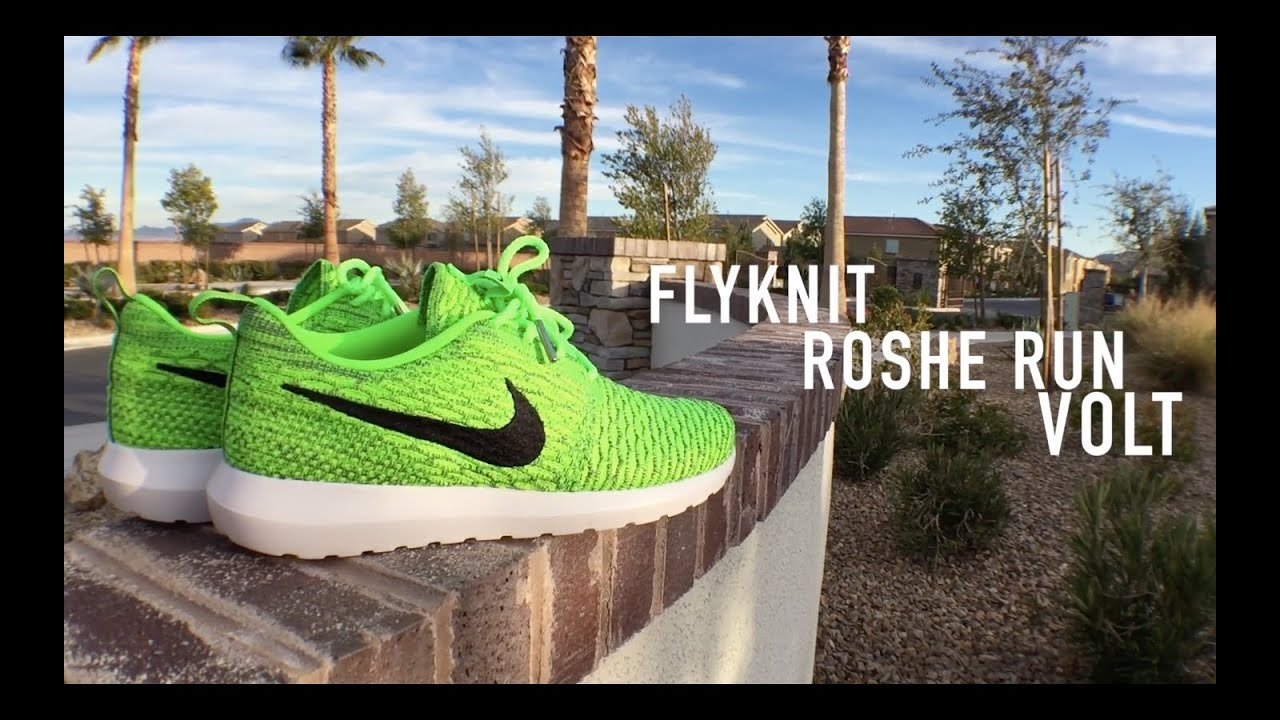 Roshe Flyknit Green