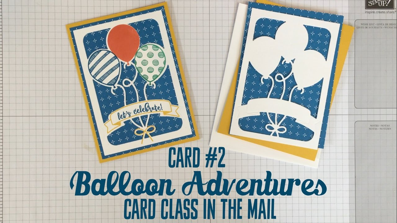 card   stampin' up balloon adventures pop up birthday card, Birthday card