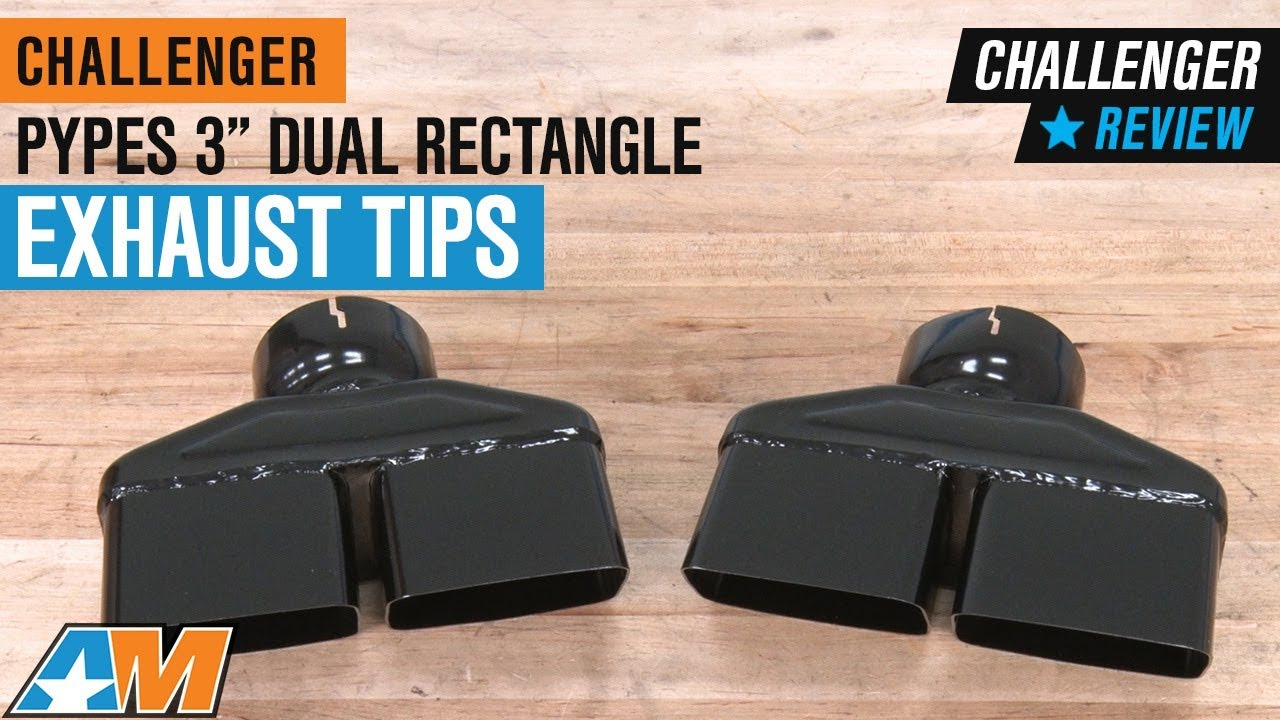 2008 2014 challenger pypes 3 black dual rectangle exhaust tips review
