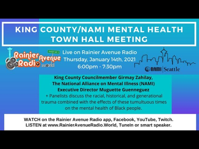 NAMI Washington Black Mental Health Town Hall with Girmay Zahilay