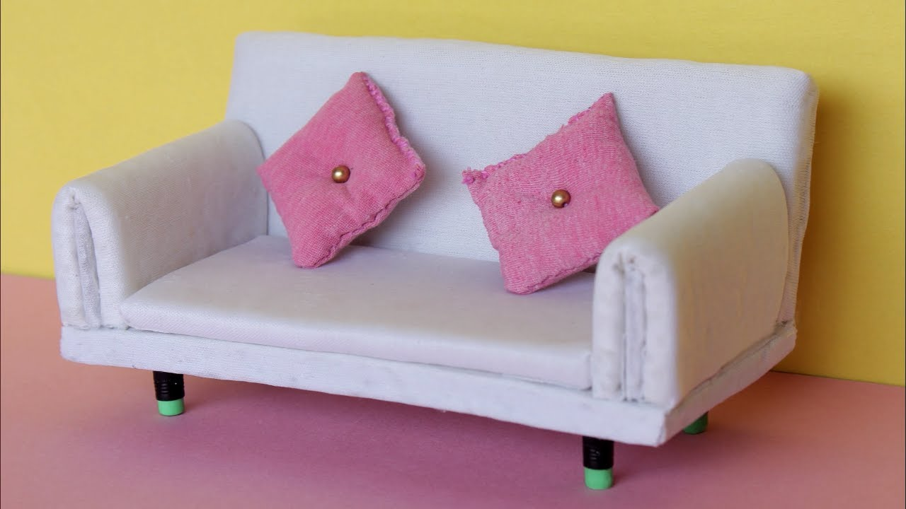 Mini Couch Mini Sofa Wow How To Make Sofa Miniature Diy Diy Miniature Sofa How To Make Sofa By Easy Way