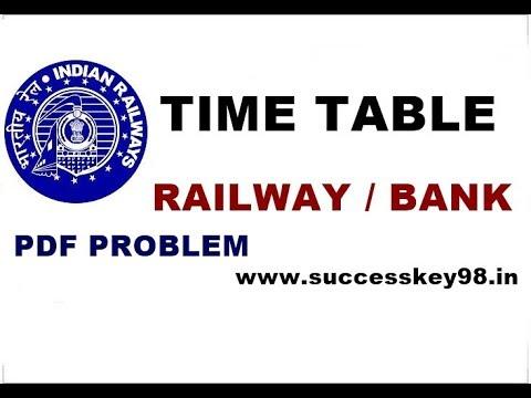 RAILWAY & BANK ka TIME TABLE,Live CLASS KA,preparation in hindi