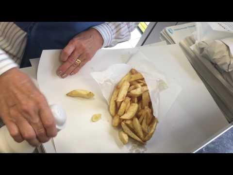 Fish And Chips At Norcot Road, Reading (UK)