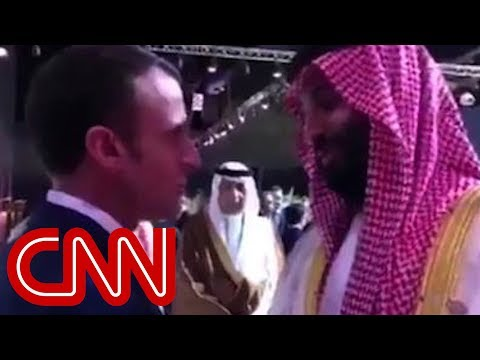 Emmanuel Macron confronts Saudi Crown Prince on camera