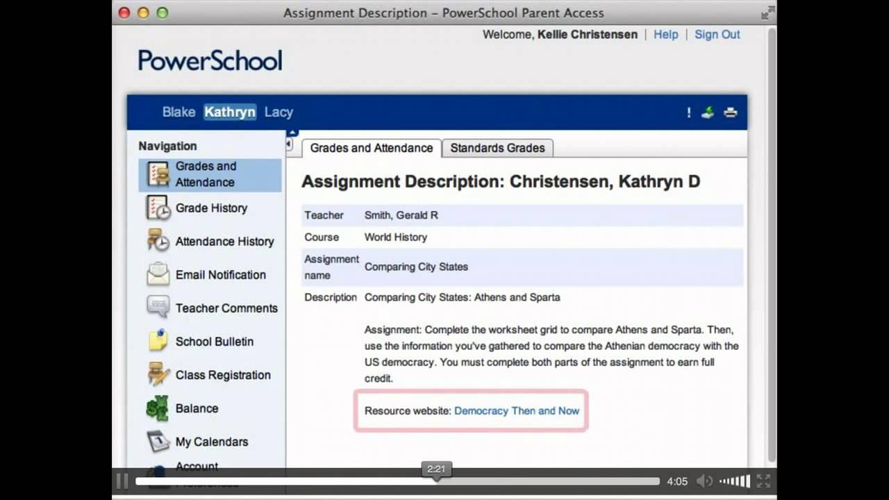 Power School Parent Portal Youtube