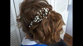 как сделать высокую  свадебную прическу с собранными волосами
