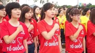 12.000 đoàn viên hát quốc ca dưới lá cờ tổ quốc