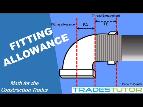 Fitting allowance for the piping trades