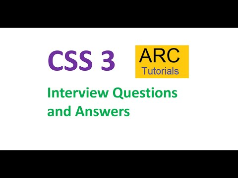 CSS Interview Questions And Answers | CSS Interview Questions For Freshers And Experienced