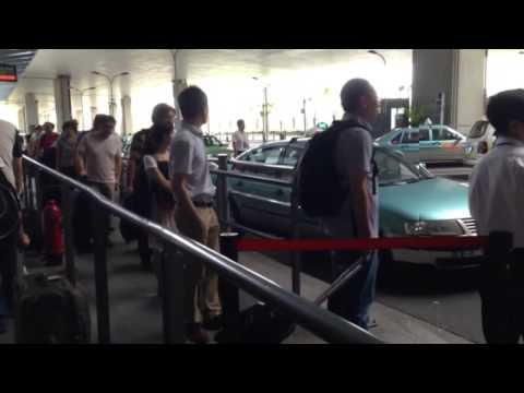 SHA - Shanghai Airport taking taxi