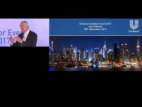 Unilever Investor Event 2017 - Paul Polman