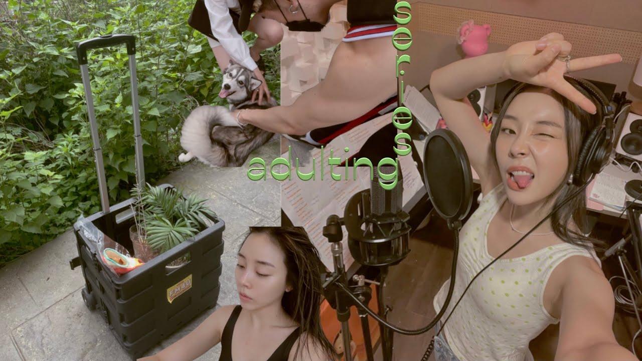 ADULTING SERIES || summeR has begun🌞 Recording, Repotting, Reuniting, skincare Routine 🧖🏻♀️