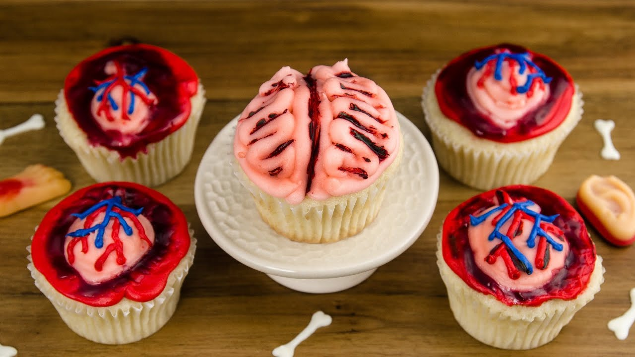 Heart Brain Cupcakes How to Make Halloween Cupcakes from Cookies