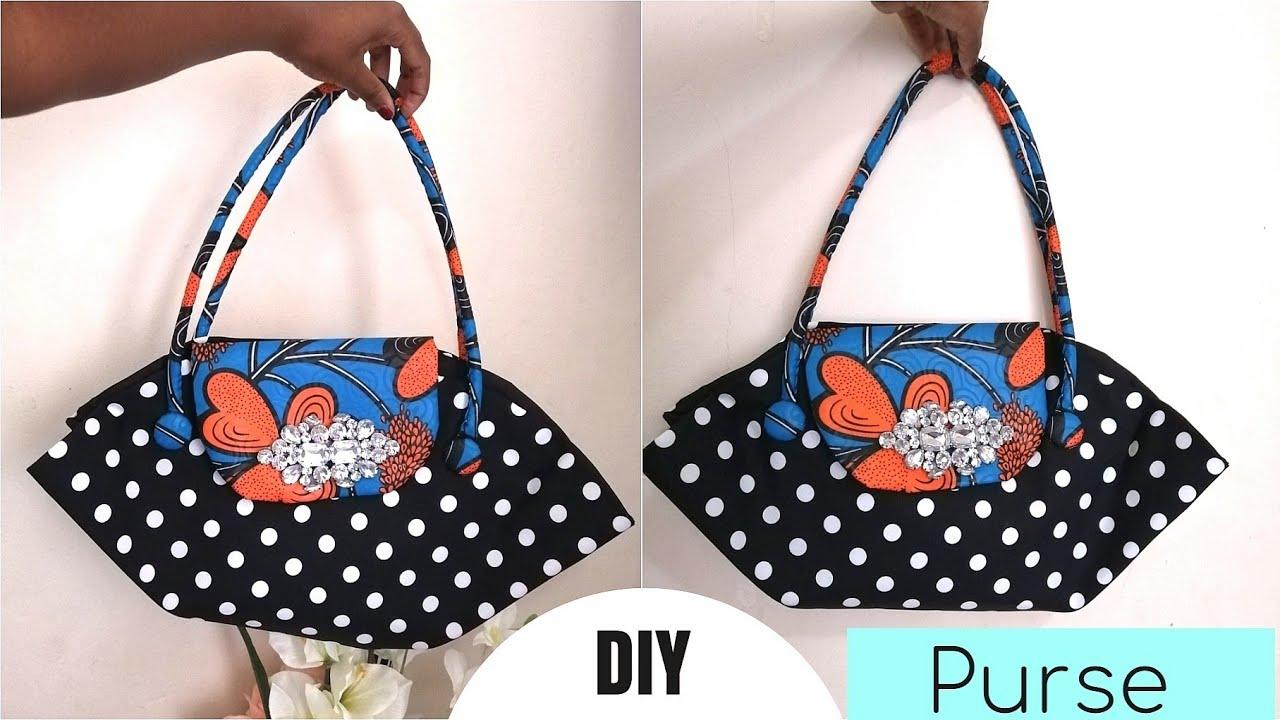 DIY Purse/Handbag from Circle shape, DIY circular bag