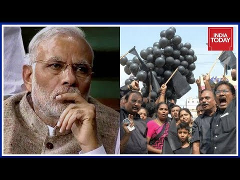 PM Modi's Chennai Visit Sees Black Flag #Cauvery Protests By DMK, TVK