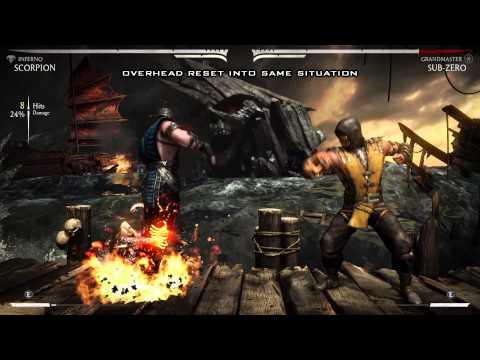 Mortal Kombat X - Scorpion Combos Ninjutsu, Hellfire And Inferno (1080p 60fps)