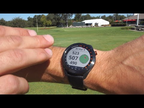 Garmin Approach S40 GPS Golf Watch (In Action)