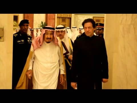PM Imran Khan given a warm welcome in the palace of Saudi Ki