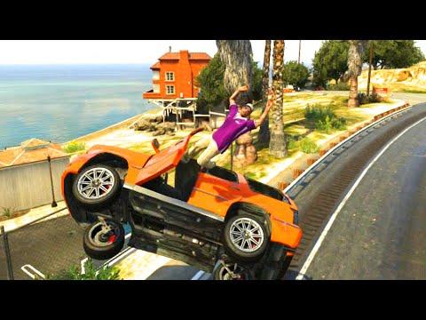 GTA V Unbelievable CrashesFalls - Episode 42