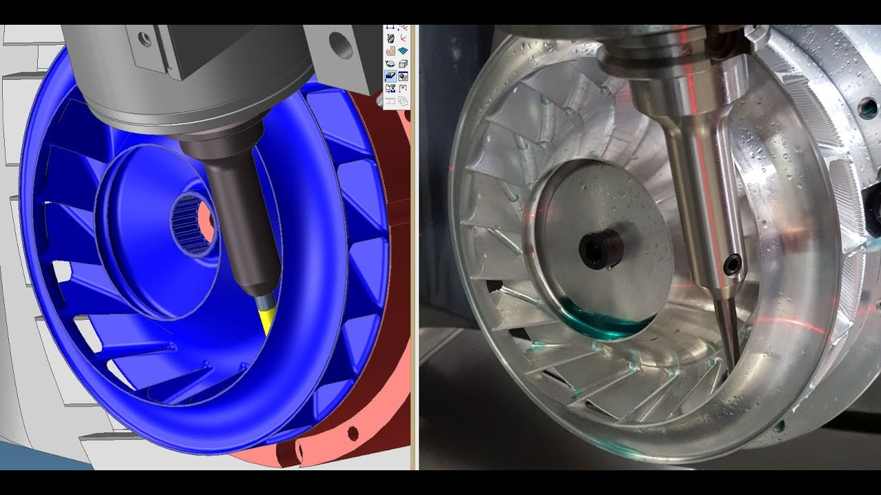 5 Axis And Millturn Cnc Machining Making Impeller Fan And Chess Piece By Langills Machine You
