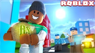 ROBBING A BANK IN ROBLOX! (Cops vs Robbers)