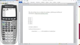 TI-84 Tutorial: How to Calculate the Correlation Coefficient and Coefficient of Determination