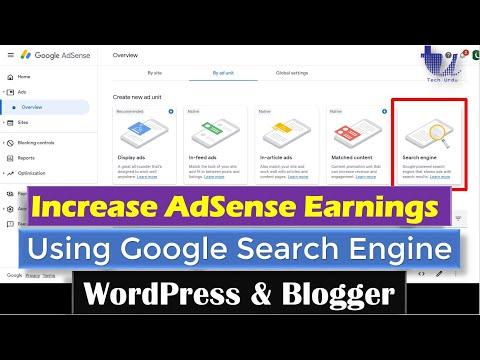 Increase AdSense Earnings Using Google-Powered Search Engine (WordPress/Blogger Sites) [Hindi/Urdu]
