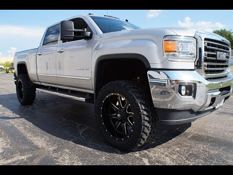 2016 Gmc Sierra 2500hd Crew Cab >> 2015 GMC Sierra 2500 w/ 22x10 Fuel Maverick Wheels & 35x12.50 Nitto Trail Grappler Tires - YouTube