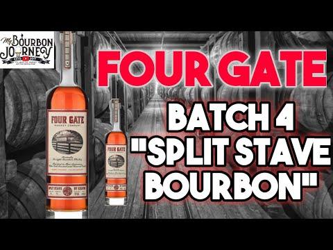 "Four Gate Whiskey Co. ""Split Stave By Kelvin"" Bourbon Whiskey Release #4"