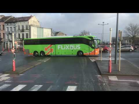 Brussels to Amsterdam by Flix bus ,First 10mins