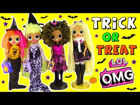 LOL Surprise Dolls Trick Or Treat LOL OMG Fashion Dolls Halloween Evening Routine with Costumes