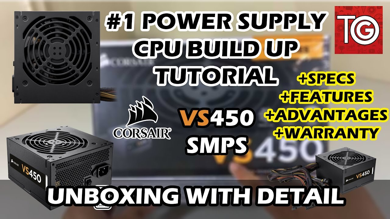 1 Corsair VS450 Unboxing in Hindi With Detail + Specs + Features + ...