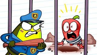 Crazy Jailbreak! Vegetables Try to Escape Prison