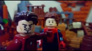 lego avengers infinity war: stark and quill argue about the plan scene.