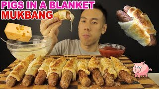 [MUKBANG LARGE PIGS IN A BLANKET+MELTED CHEESE-MASSIVE BITES