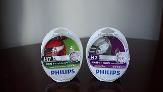 Philips LongLife EcoVision vs Philips VisionPlus 60%
